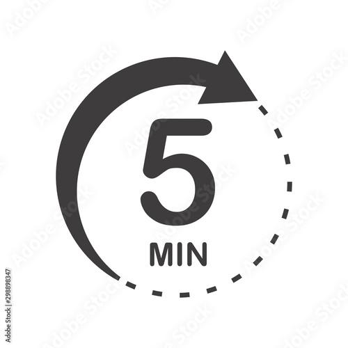 Cuadros en Lienzo  Five minutes icon
