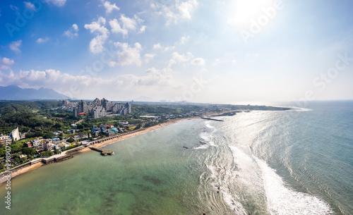 Fotografie, Tablou  Repulse Bay[Qian Shui Wan] Aerial View - Taiwan North Coast , shot in Sanzhi Dis