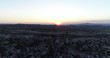Cappadocia Hills Towers and Town Sunset Aerial View 2