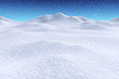 White snow hills under snowfall