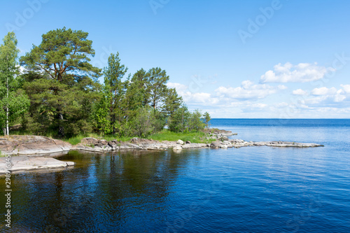 Valokuvatapetti Coast of the island of Valaam on Ladoga lake