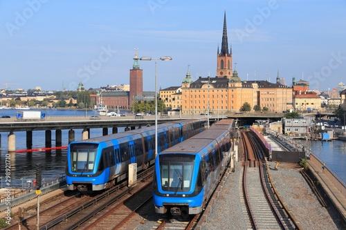 Metro trains in Stockholm Canvas Print