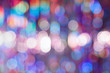 canvas print picture - Abstract colorful background with bokeh defocused lights.