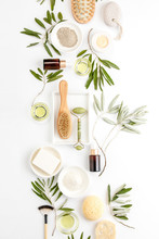 Spa Concept With Olive Oil Natural Cosmetic Ingredients