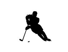 Female Ice Hockey Player Turni...