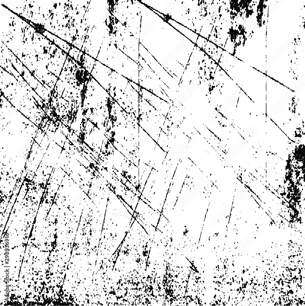 Fototapety, obrazy: Scratched Grunge Urban Background Texture Vector. Dust Overlay Distress Grainy Grungy Effect. Distressed Backdrop Vector Illustration. Isolated Black on White Background. EPS 10.