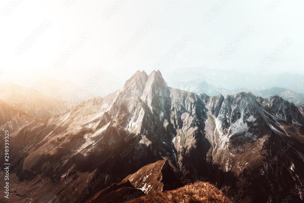 Fototapety, obrazy: Höfats Mountain in the Bavarian Alps near Oberstdorf
