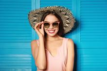 Beautiful Woman Wearing Sungla...