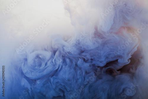Obraz na plátně  Abstract pastel blue smoke background
