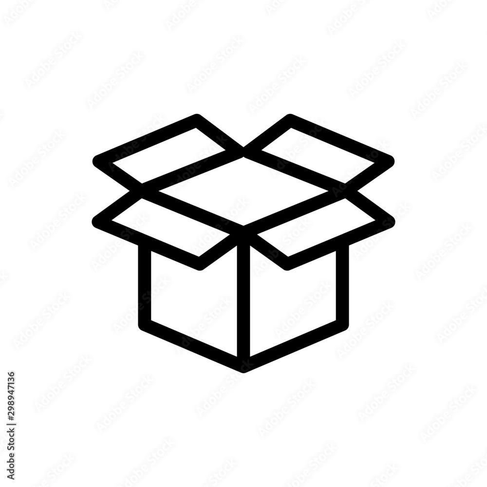 Fototapety, obrazy: Cardboard icon trendy