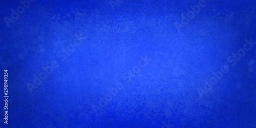 bright blue background with dark border and distressed soft texture design, eleg Fototapete