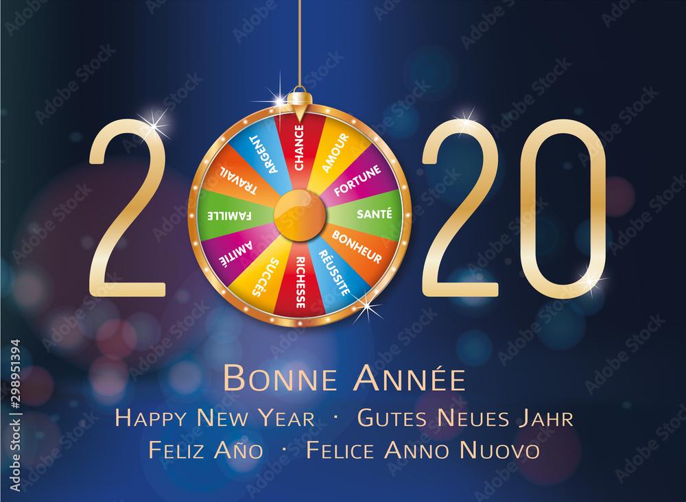 Fototapeta 2020-Carte de vœux roue de la fortune-2
