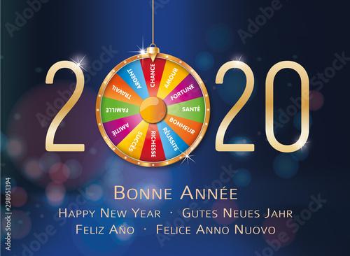Fototapeta 2020-Carte de vœux roue de la fortune-2 obraz