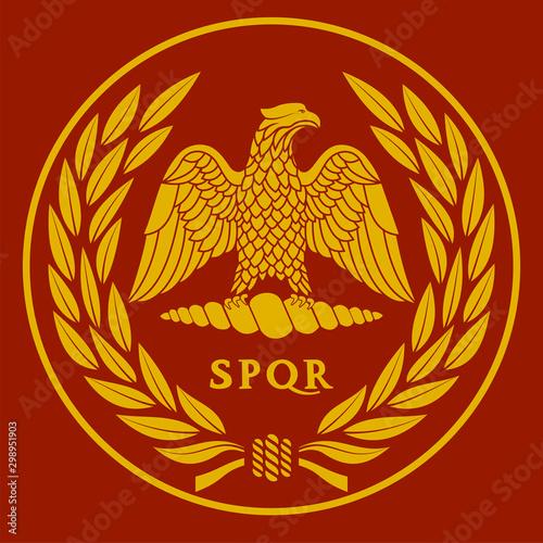 Photo Roman eagle logo vector illustration