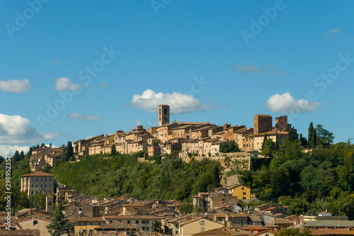 Village Colle di Val d'Elsa in Italy Canvas Print