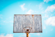 Vintage Old Basketball Hoop Wi...