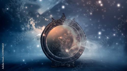 Vászonkép Dark forest, magic mirror