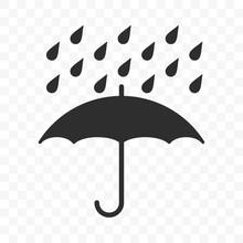 Umbrella Icon, Fragile Box And...