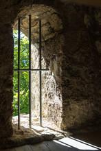 Prsion Window With Iron Bars I...