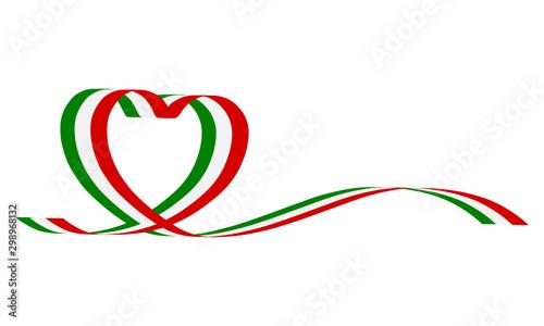 Fényképezés Nastro italia cuore