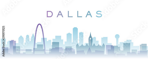 Foto Dallas Transparent Layers Gradient Landmarks Skyline