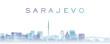 Sarajevo Transparent Layers Gradient Landmarks Skyline
