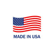made in the usa on a white background