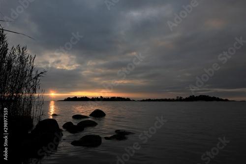Swedish archipelago at sunrise Wallpaper Mural