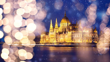 Snowing In Budapest, Hungary - Winter In The City