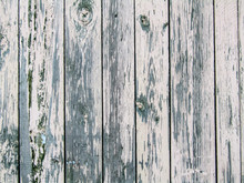 Wooden Fence From Vertical Boards. Photo