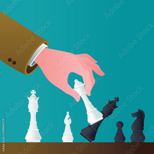 Checkmate Concept Illustration Canvas Print