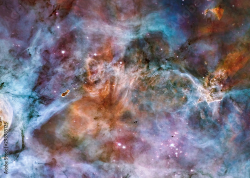 Carina Nebula star birth. Science fiction wallpaper. Elements of this image were furnished by NASA.