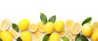 Ripe lemons on white background