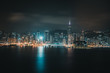 Victoria Harbor nightscape view from hotel