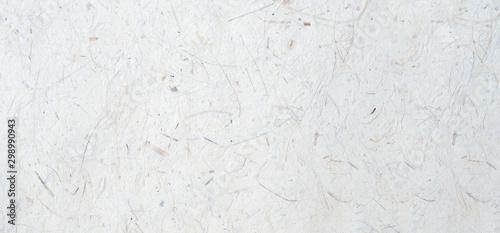Fotografia White handmade japanese paper texture background, banner, Mulberry handmade pape