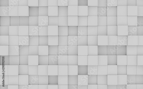 abstact white modern architecture background with white cubes 3d illustration render birds eye view