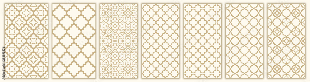 Fototapeta Islamic seamless pattern with arabic and islamic ornament big set