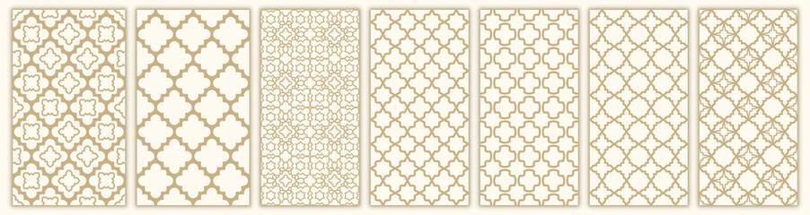 Islamic seamless pattern with arabic and islamic ornament big set