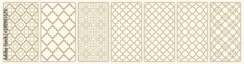 Cuadros en Lienzo  Islamic seamless pattern with arabic and islamic ornament big set