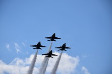 Low Angle Shot Of Four Fighter...