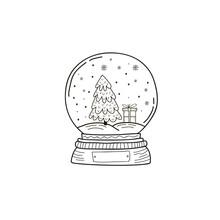 Christmas Crystal Ball. Vector...