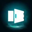 Deposit, open, safe vector icon. Lighting blue smoke neon icon. Deposit, open, safe vector icon