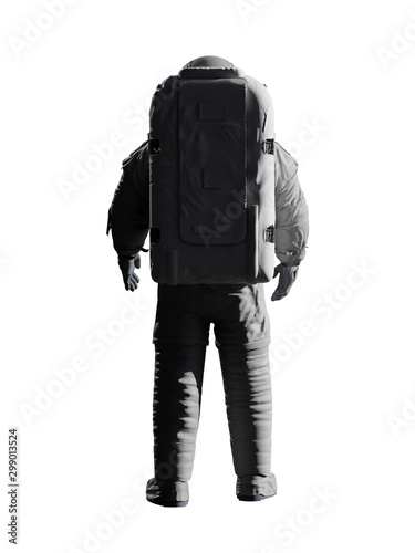 Fotografie, Tablou  astronaut looking into empty space, isolated on white background