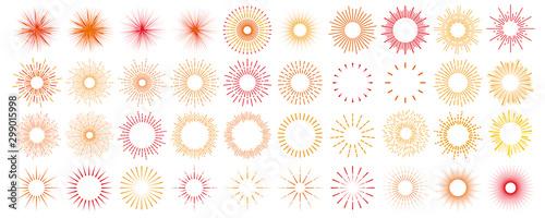 太陽 線画セット Tablou Canvas