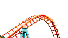 Roller Coaster On White Backgr...