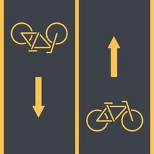 Bike Path And Bicycle Symbol O...