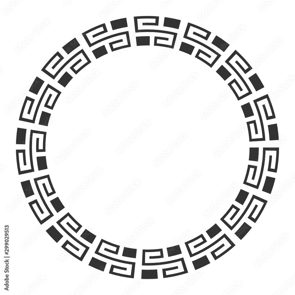 Fototapety, obrazy: Elegant frame with ornate borders, greek ornament.