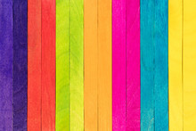 Multi Color Colorful Wood Ice Cream Stick Art Frame Background Design