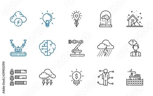 Fotomural brain icons set