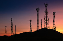 Signal And Communication Towers Have A Royal Background Such As The Fall